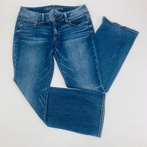American Eagle Womens Jeans 10 S Blue Kick Boot